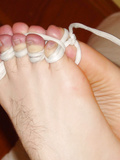 My feet in bondage