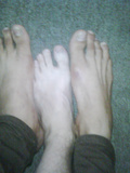 My little feet with big feet