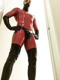 ME IN RED RUBBER