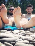 Guys Showing Feet Together