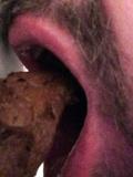 Eating shit and dildo-fucking
