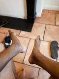 black feet size 49 eur