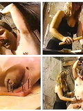 """EXCERPT FROM THE VIDEO """"vintage Extreme Femdom, CBT, Needles, balls Nailed"""