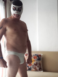 Me in a Mexican Lucha mask