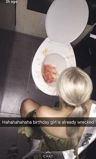Drunk friend puking  hard